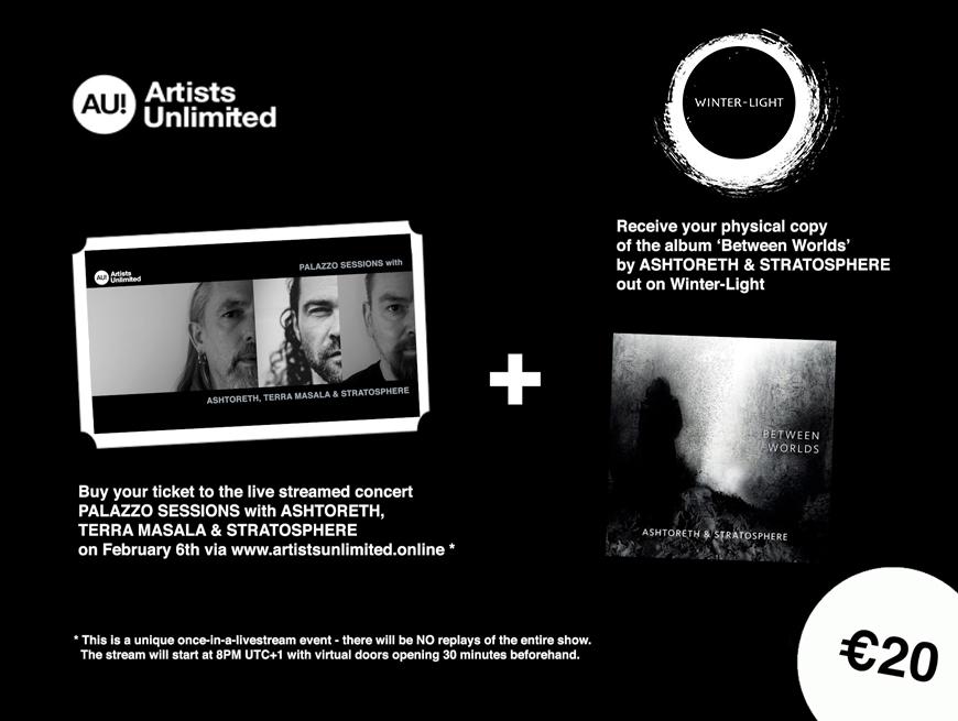 Artists Unlimited presents Ashtoreth, Terra Masala & Stratosphere Livestream
